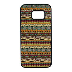Aztec Pattern Samsung Galaxy S7 Black Seamless Case