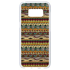 Aztec Pattern Samsung Galaxy S8 White Seamless Case