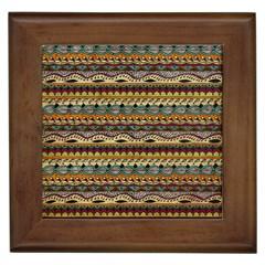 Aztec Pattern Framed Tiles