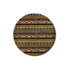 Aztec Pattern Rubber Round Coaster (4 pack)
