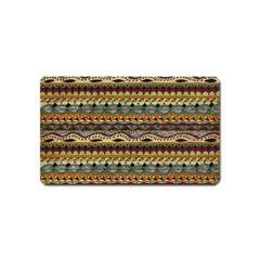 Aztec Pattern Magnet (name Card)