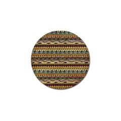 Aztec Pattern Golf Ball Marker (10 Pack)