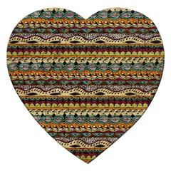 Aztec Pattern Jigsaw Puzzle (heart)