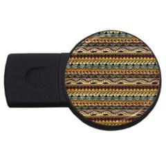 Aztec Pattern Usb Flash Drive Round (4 Gb)