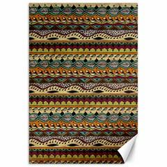 Aztec Pattern Canvas 20  X 30