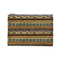 Aztec Pattern Cosmetic Bag (Large)