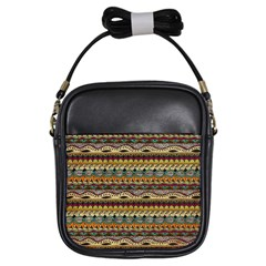 Aztec Pattern Girls Sling Bags