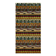 Aztec Pattern Shower Curtain 36  X 72  (stall)