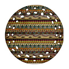 Aztec Pattern Ornament (round Filigree)