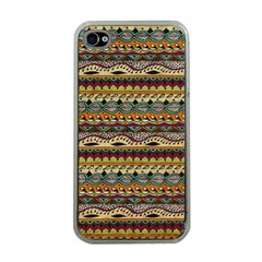 Aztec Pattern Apple iPhone 4 Case (Clear)