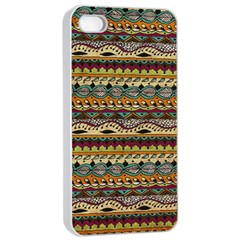 Aztec Pattern Apple Iphone 4/4s Seamless Case (white)