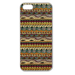 Aztec Pattern Apple Seamless Iphone 5 Case (clear)