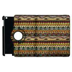 Aztec Pattern Apple iPad 3/4 Flip 360 Case
