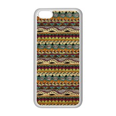 Aztec Pattern Apple iPhone 5C Seamless Case (White)
