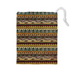 Aztec Pattern Drawstring Pouches (large)