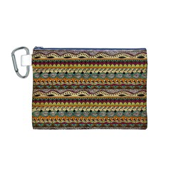 Aztec Pattern Canvas Cosmetic Bag (M)