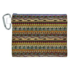 Aztec Pattern Canvas Cosmetic Bag (xxl)