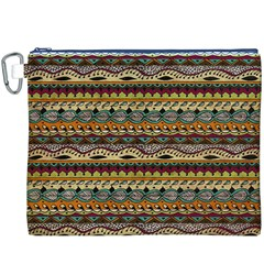 Aztec Pattern Canvas Cosmetic Bag (xxxl)