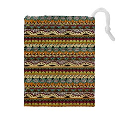 Aztec Pattern Drawstring Pouches (extra Large)