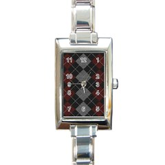 Wool Texture With Great Pattern Rectangle Italian Charm Watch