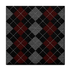 Wool Texture With Great Pattern Tile Coasters