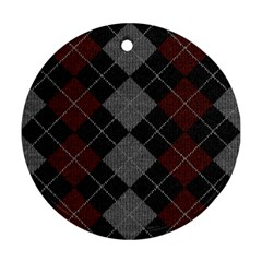 Wool Texture With Great Pattern Ornament (Round)