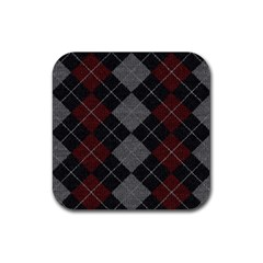 Wool Texture With Great Pattern Rubber Square Coaster (4 Pack)