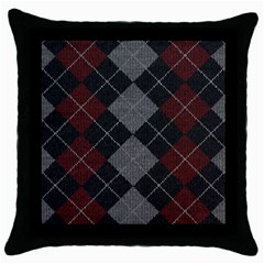 Wool Texture With Great Pattern Throw Pillow Case (Black)