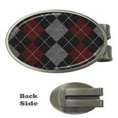 Wool Texture With Great Pattern Money Clips (Oval)