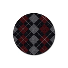 Wool Texture With Great Pattern Rubber Round Coaster (4 Pack)