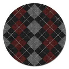 Wool Texture With Great Pattern Magnet 5  (Round)