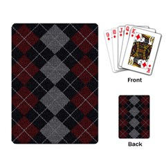 Wool Texture With Great Pattern Playing Card