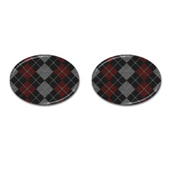 Wool Texture With Great Pattern Cufflinks (Oval)