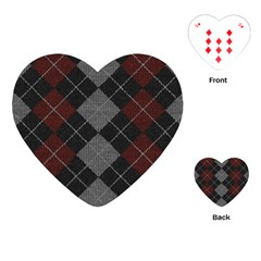 Wool Texture With Great Pattern Playing Cards (heart)