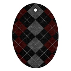 Wool Texture With Great Pattern Oval Ornament (two Sides)
