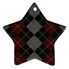 Wool Texture With Great Pattern Star Ornament (two Sides)