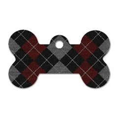 Wool Texture With Great Pattern Dog Tag Bone (Two Sides)