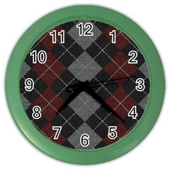 Wool Texture With Great Pattern Color Wall Clocks