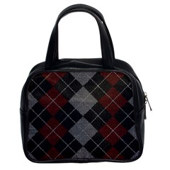 Wool Texture With Great Pattern Classic Handbags (2 Sides)