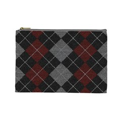 Wool Texture With Great Pattern Cosmetic Bag (large)