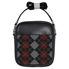 Wool Texture With Great Pattern Girls Sling Bags
