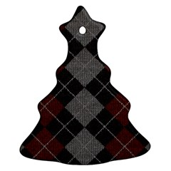 Wool Texture With Great Pattern Ornament (Christmas Tree)