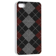 Wool Texture With Great Pattern Apple iPhone 4/4s Seamless Case (White)