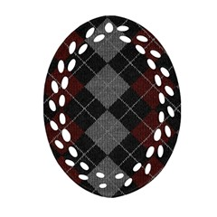 Wool Texture With Great Pattern Ornament (oval Filigree)