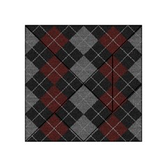 Wool Texture With Great Pattern Acrylic Tangram Puzzle (4  X 4 )