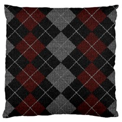 Wool Texture With Great Pattern Large Cushion Case (two Sides)