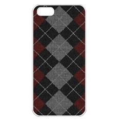 Wool Texture With Great Pattern Apple iPhone 5 Seamless Case (White)