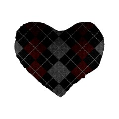 Wool Texture With Great Pattern Standard 16  Premium Heart Shape Cushions
