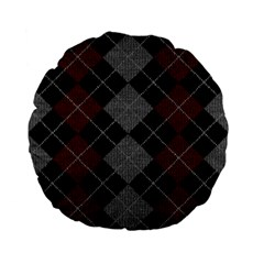 Wool Texture With Great Pattern Standard 15  Premium Flano Round Cushions