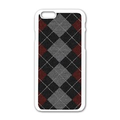 Wool Texture With Great Pattern Apple Iphone 6/6s White Enamel Case